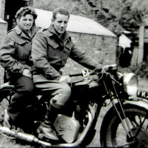 This was a motorbike just before the war