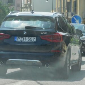The photo is not very visible, but the driver of this BMW parked his car, taking 2 parking